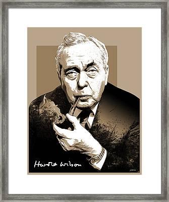 Pm Harold Wilson Framed Print