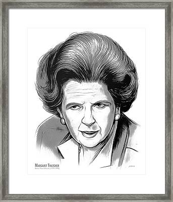 Pm Margaret Thatcher Framed Print