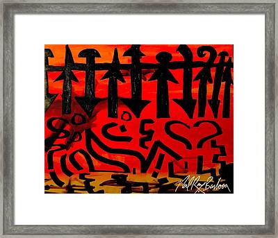 Pmurt Abstract  Framed Print