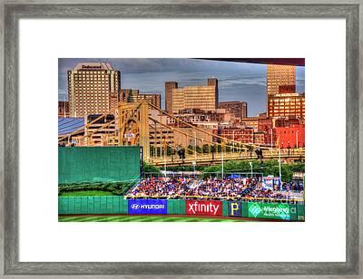 Pnc Park And Roberto Clemente Bridge Framed Print