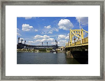 Pnc Park And Roberto Clemente Bridge Pittsburgh Pa Framed Print