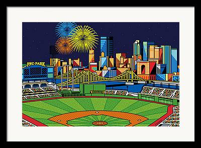 Pittsburgh Pirates Digital Art Framed Prints