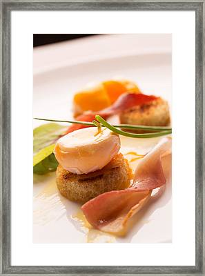 Poached Egg With Fresh Salad Framed Print by Vadim Goodwill