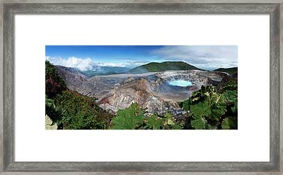 Poas Volcano Framed Print by Kryssia Campos