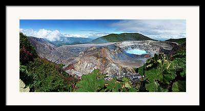 Stratovolcano Framed Prints