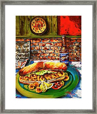 Po'boy Time Framed Print