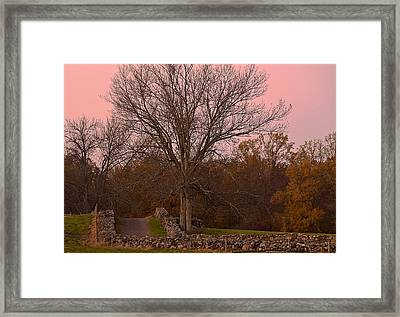 Pocantico Trail Novemer Dusk Framed Print by Bedford Shore Photography