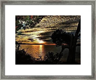 Pocasset Sunset Framed Print