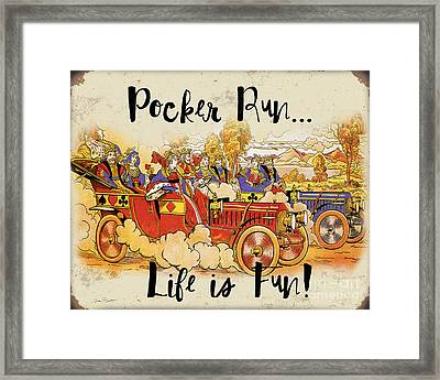 Pocker Run-jp3501 Framed Print by Jean Plout