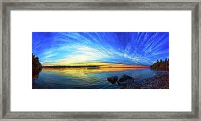 Pocomoonshine Sunset 1 Framed Print by ABeautifulSky Photography