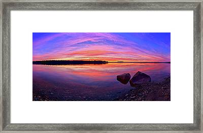 Pocomoonshine Sunset Framed Print