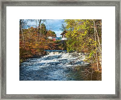 Pocono Stream View Framed Print