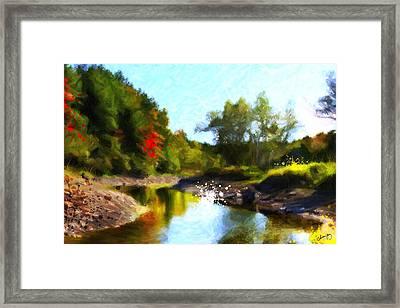 Poconos Landscape Framed Print by Chamira Young