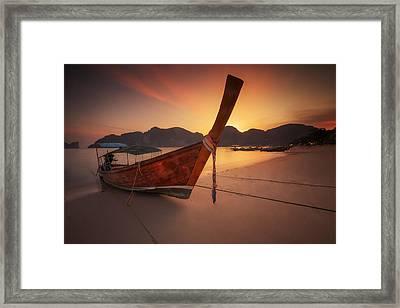 Poda Island Framed Print by Anek Suwannaphoom