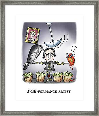 Poeformance Artist Framed Print by Mark Armstrong