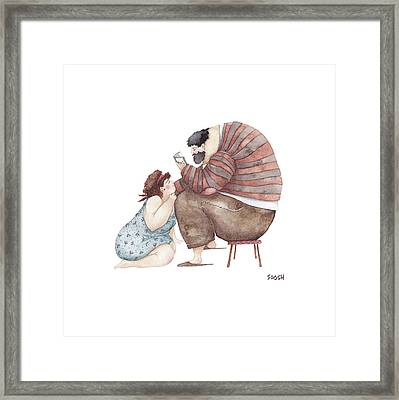 Poem Reading Framed Print by Soosh