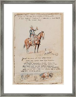 Poems To Wallace Framed Print