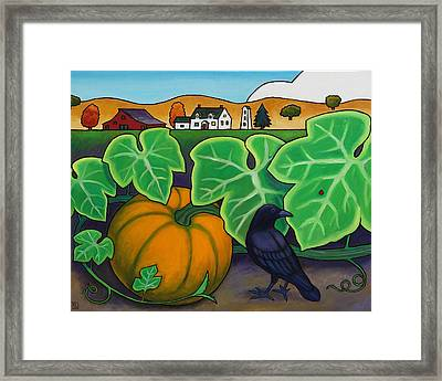 Poes Crow Framed Print