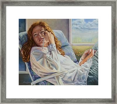 Poet Ponders A Sunbeam Framed Print
