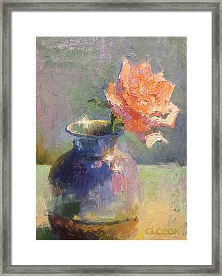 Poetic Lasting Impression Framed Print by Christopher Cook