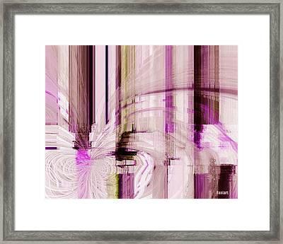 Framed Print featuring the digital art Poetic Rain by Fania Simon