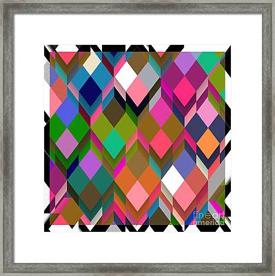 Poetry And Boxes Framed Print by Mindy Sommers