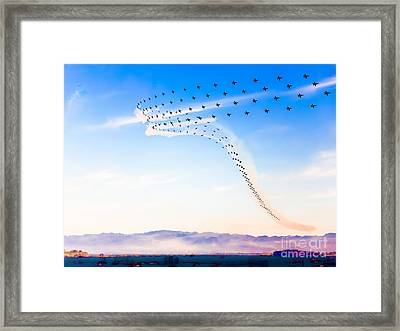 Poetry In Supersonic Motion Framed Print by Engel Ching