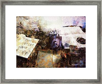 Poets In Picardy Framed Print by Claire Bull