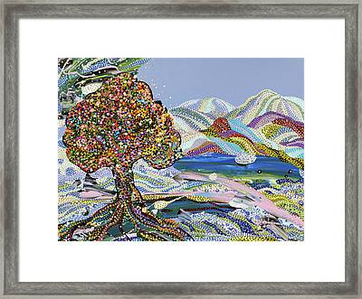 Poet's Lake Framed Print