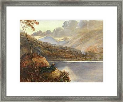 Poet's Rest Place Framed Print by James Smetham