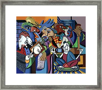 Poets Unleashed  Framed Print by Anthony Falbo
