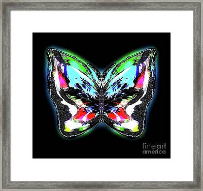 Poinsetia Iceflower Framed Print