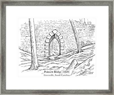 Poinsett Bridge Framed Print by Greg Joens