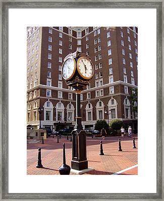 Poinsett Hotel Greeenville Sc Framed Print