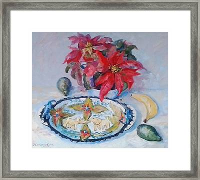 Poinsettia And Ardmore Dish Framed Print