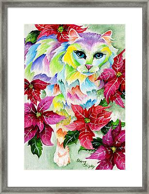Poinsettia Sweetheart Framed Print by Sherry Shipley