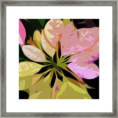 Poinsettia Tile Framed Print