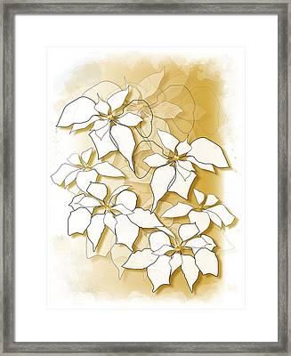 Poinsettias Framed Print
