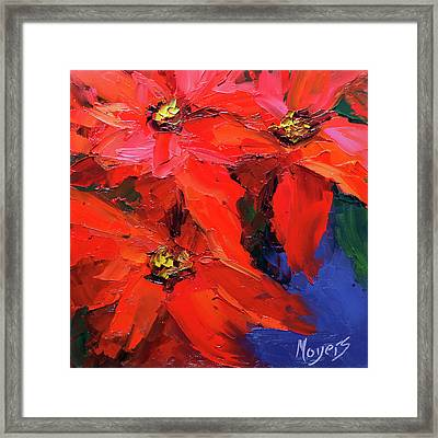 Poinsettias Framed Print by Mike Moyers