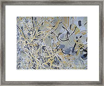 Point And Line To Plane Framed Print by Nancy Kane Chapman