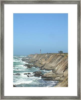 Point Arena Lighthouse - Vertical Framed Print by Bonnie Muir