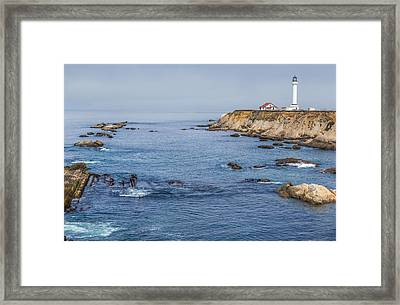 Point Arena Lighthouse And Coast Framed Print