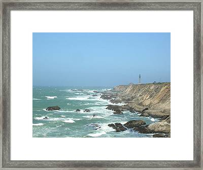 Point Arena Lighthouse Framed Print by Bonnie Muir