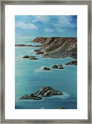 Point Arena Framed Print by Robin Lee