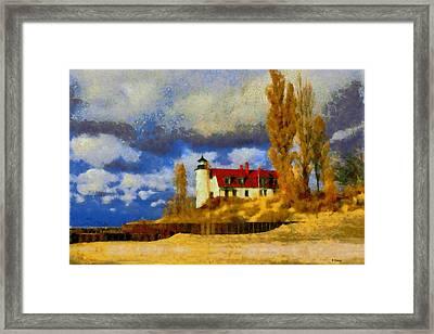 Point Betsie Lighthouse Framed Print by Kai Saarto
