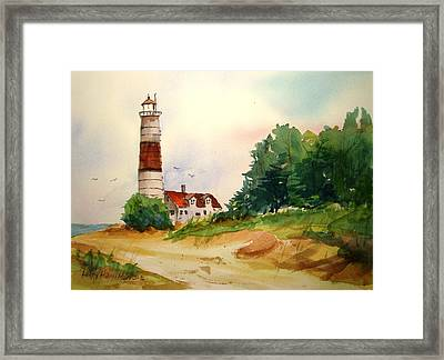 Point Betsie Lighthouse Michigan Framed Print