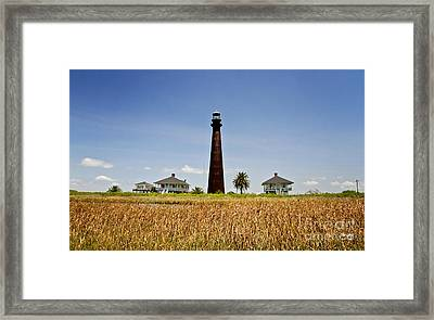 Point Bolivar Lighthouse Framed Print by Scott Pellegrin