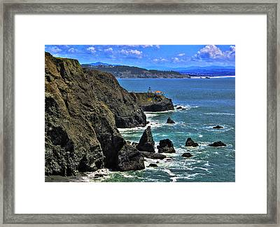 Framed Print featuring the photograph Point Bonita Lighthouse by Richard Stephen