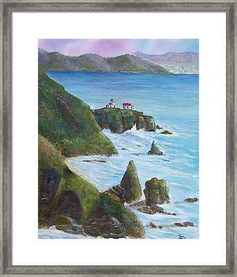 Point Bonita Lighthouse Framed Print by Tony Rodriguez