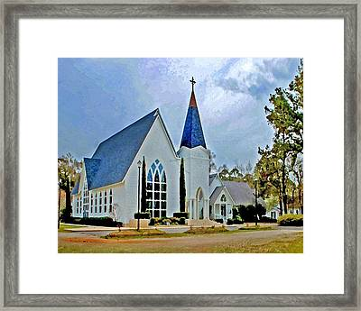 Point Clear Alabama St. Francis Church Framed Print